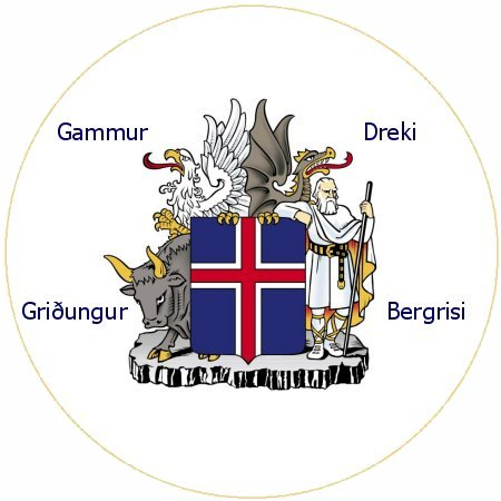 štátny znak Islandu